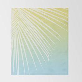 Pastel Palm 03 Throw Blanket