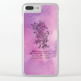 Shakespeare - Romeo and Juliet - Rose By Any Other Name Clear iPhone Case