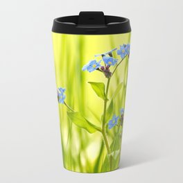 Lovely Morning Meadow Forget Me Not #decor #society6 Travel Mug