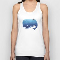 moby Tank Tops featuring Moby Dick by Arianna Usai