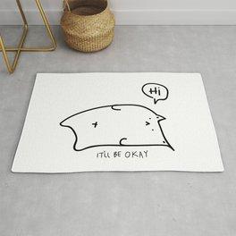 Unmotivated Doodle Cat Rug