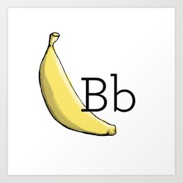 Fruit + Veggie Alphabet: Banana Art Print