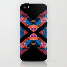 Elegant Feng Shui Silk Brocade Boho Geometric Print iPhone Skin