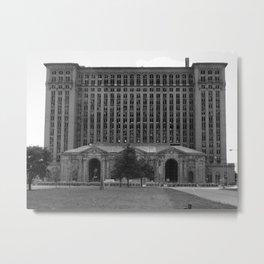 Detroit Train Depot Metal Print