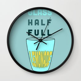 Glass Half Full Wall Clock