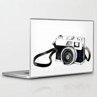 vintage camera Laptop & iPad Skins featuring Vintage camera  by Bridget Davidson