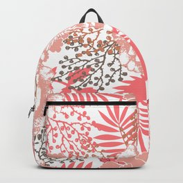 Pink peonies. Backpack