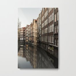 Reflections of Amsterdamn Metal Print