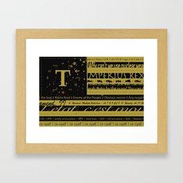 True Flag Framed Art Print