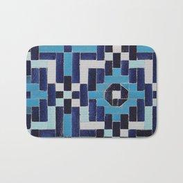 VINTAGE BLUE CERAMIC TILES Bath Mat