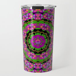 flowers and more floral dancing a power peace dance Travel Mug