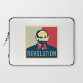 Duxov. Nikol Pashinyan. Armenian revolution. #society6 #decor #buyart #artprint Laptop Sleeve