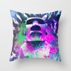 moai Journey Throw Pillow