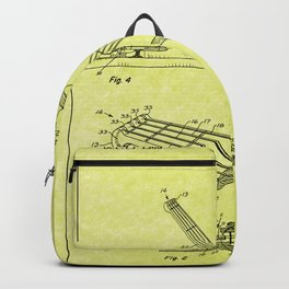 Guitar Patent - light yellow Backpack