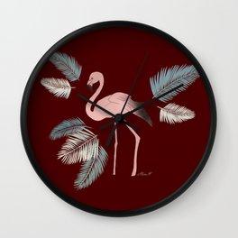Flamingo on the Go ! Wall Clock