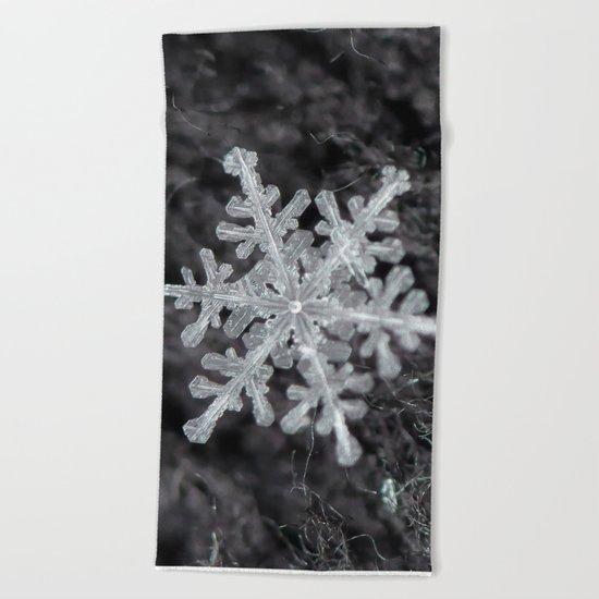 Snowflake Closeup #1 Beach Towel
