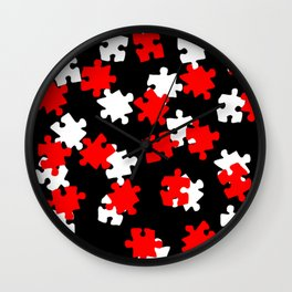 DT PUZZLE SCATTER 7 Wall Clock