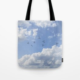 Window Curtains - Flying Away Tote Bag