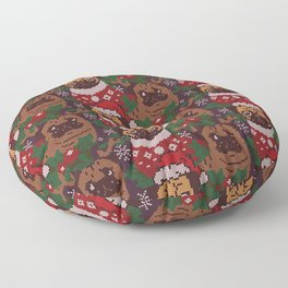 Christmas Party With The Pug Floor Pillow