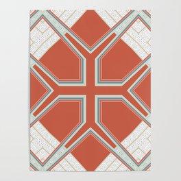Coral Ornate Pattern Design Poster