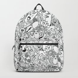 CARTOON GRAFFITI B & W Backpack