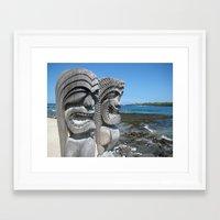 tiki Framed Art Prints featuring Tiki by courtney2k ⚓ design™