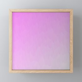 Pink to Gray ombre flames texture Framed Mini Art Print