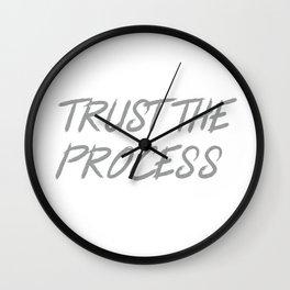 Trust The Process Workout Motivational Design Wall Clock