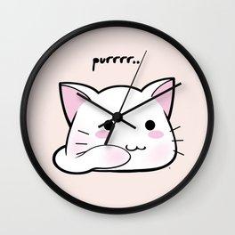 Purrring Kawaii Kitten MEOW! =(^_^)= Wall Clock