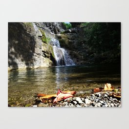 """Ultimo brinco"" waterfall @ Rincon, Puerto Rico 2 Canvas Print"