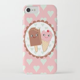 Ice creams in love iPhone Case