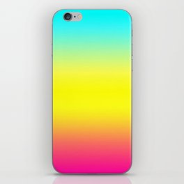 Ombre Magical Rainbow Unicorn Colors iPhone Skin