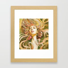 Girl with Jewels Framed Art Print