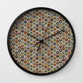 hexagon design Wall Clock