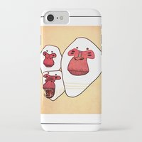 planet of the apes iPhone & iPod Cases featuring Apes by Federica Amico