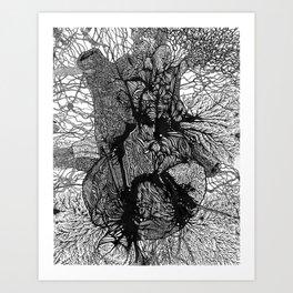Artificially Organic Heart Art Print