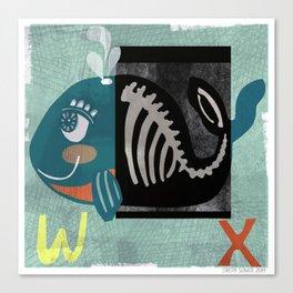 """W & X"" Canvas Print"