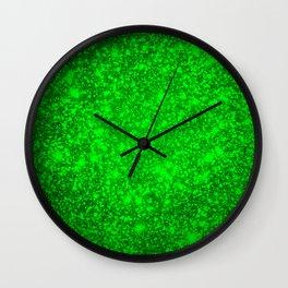 texture green mix  Wall Clock