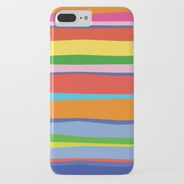 Bright Colorful Maritime Stripes iPhone Case