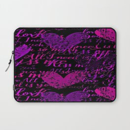 Kiss Me, Miss Me Purple Laptop Sleeve