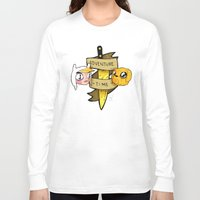 finn and jake Long Sleeve T-shirts featuring Finn and Jake by Nate Galbraith