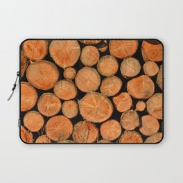 stack of wood Laptop Sleeve