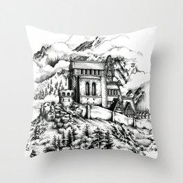 Dragonsreach Throw Pillow