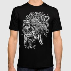 Serpent Warrior Black Mens Fitted Tee SMALL
