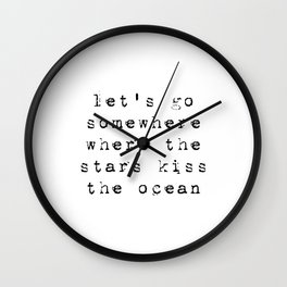 stars and the ocean Wall Clock