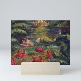 mermaid zodiac: cancer Mini Art Print