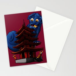 a Dog a Panic in a Pagoda Stationery Cards