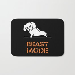 Beast Mode Dachshund Bath Mat