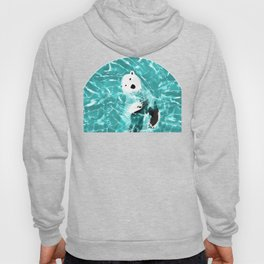 Playful Polar Bear In Turquoise Water Design Hoody