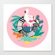 Flaming-oOO Canvas Print
